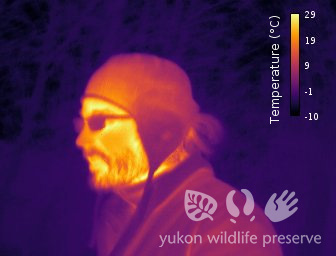 Thermal image of Jake's face