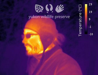 Thermal image of Jake's face.